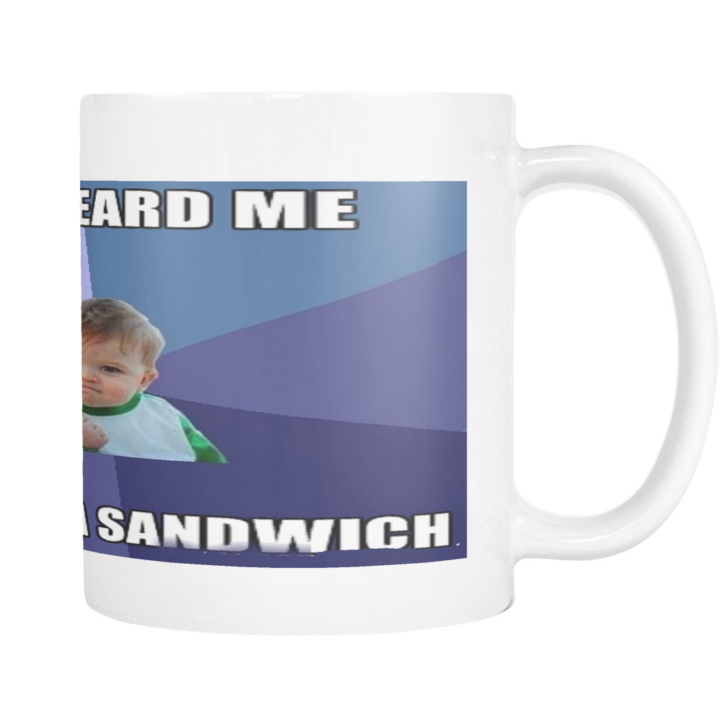BABY SANDWICH FUNNY MEME ON 11 OUNCE COFFEE MUG