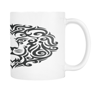 LION TATTOO ON 11 OUNCE COFFEE MUG