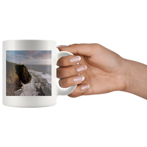 Cliff Lighthouse 11 oz coffee mug