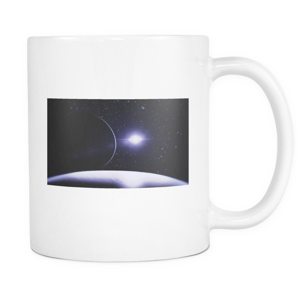 Outer space 11 ounce double sided coffee mug