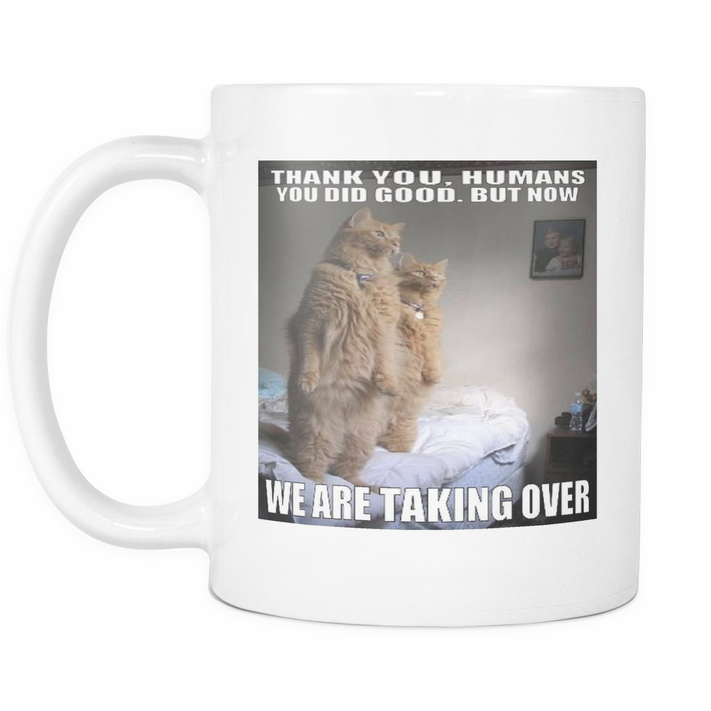 Cats taking over the world 11 ounce double sided coffee mug