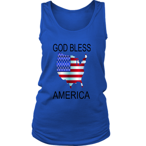 GOD BLESS AMERICA DISTRICT WOMENS TANK TOP