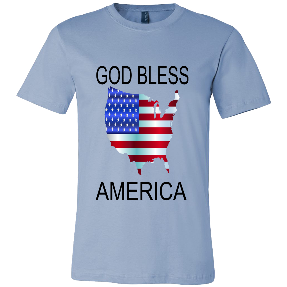 GOD BLESS AMERICA CANVAS MENS SHIRT