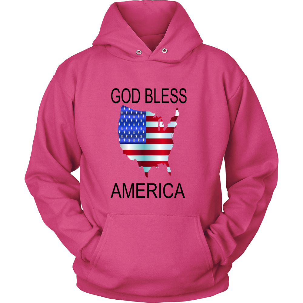 GOD BLESS AMERICA HOODIE PULLOVER