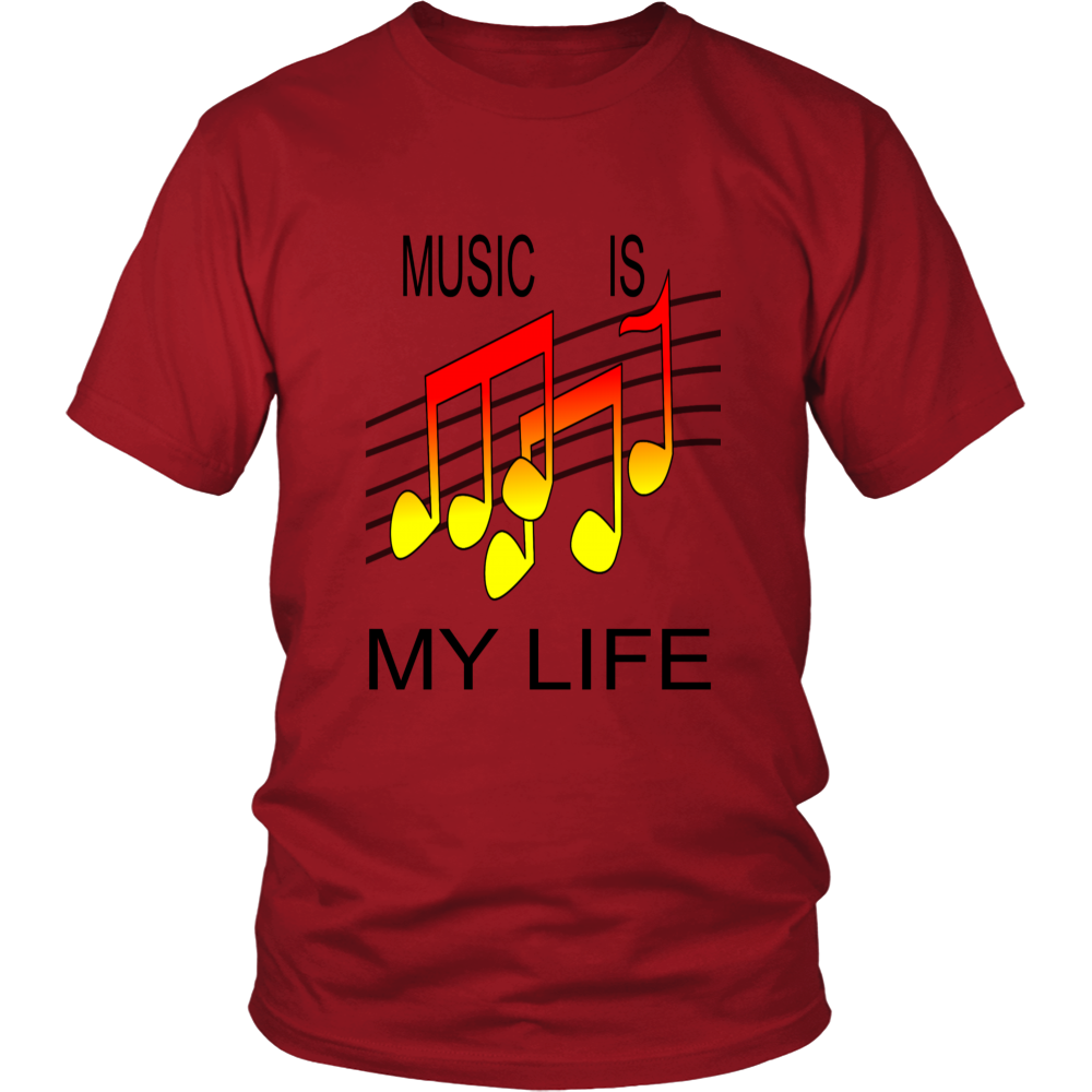 MUSIC IS MY LIFE DISTRICT UNISEX SHIRT