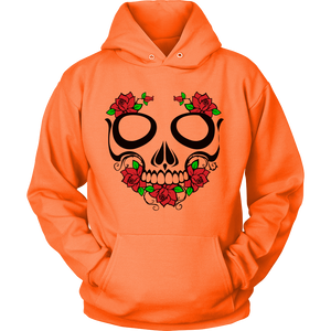 Skull and Roses Pullover Hoodie