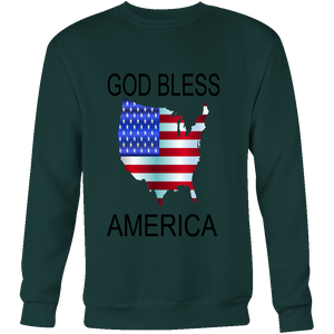 GOD BLESS AMERICA CREWNECK SWEATSHIRT