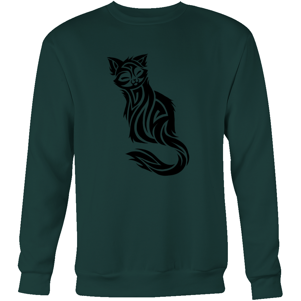 CAT TATTOO CREWNECK SWEATSHIRT