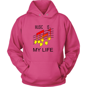 MUSIC IS MY LIFE HOODIE PULLOVER