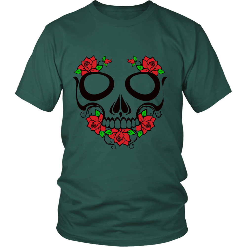 Skull and Roses District unisex shirt