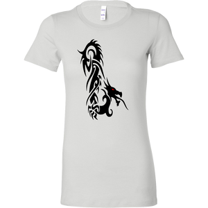 DRAGON RED EYE FANTASY BELLA WOMENS SHIRT