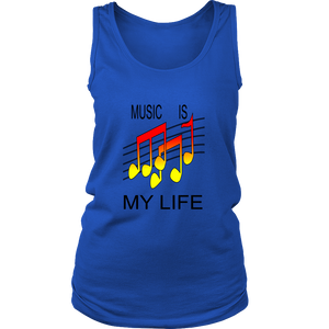 MUSIC IS MY LIFE DISTRICT WOMENS TANK TOP