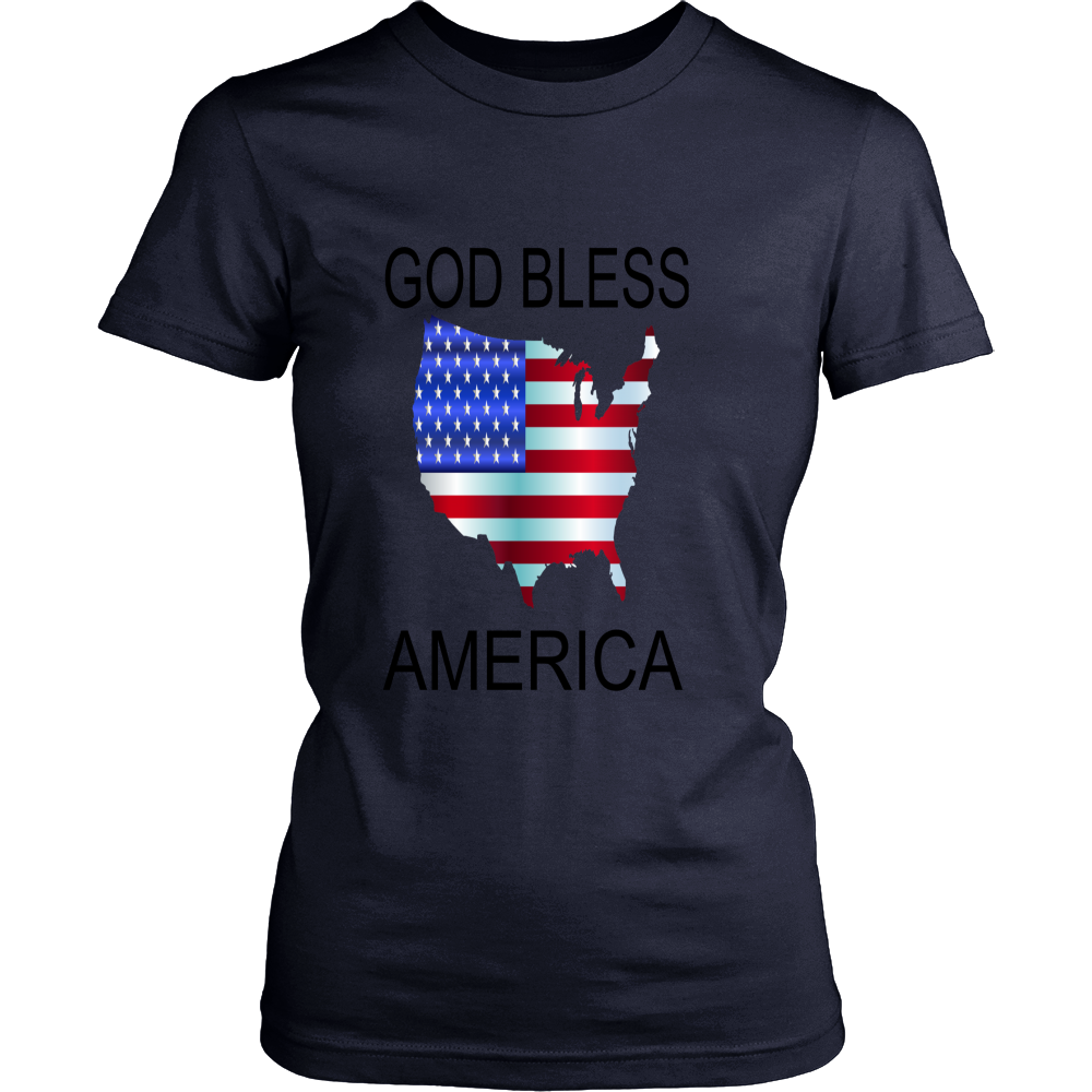 GOD BLESS AMERICA DISTRICT WOMENS SHIRT