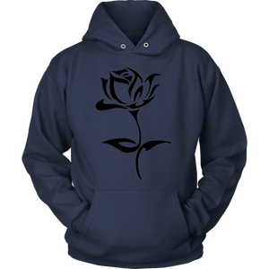 ROSE TATTOO PULLOVER HOODIE