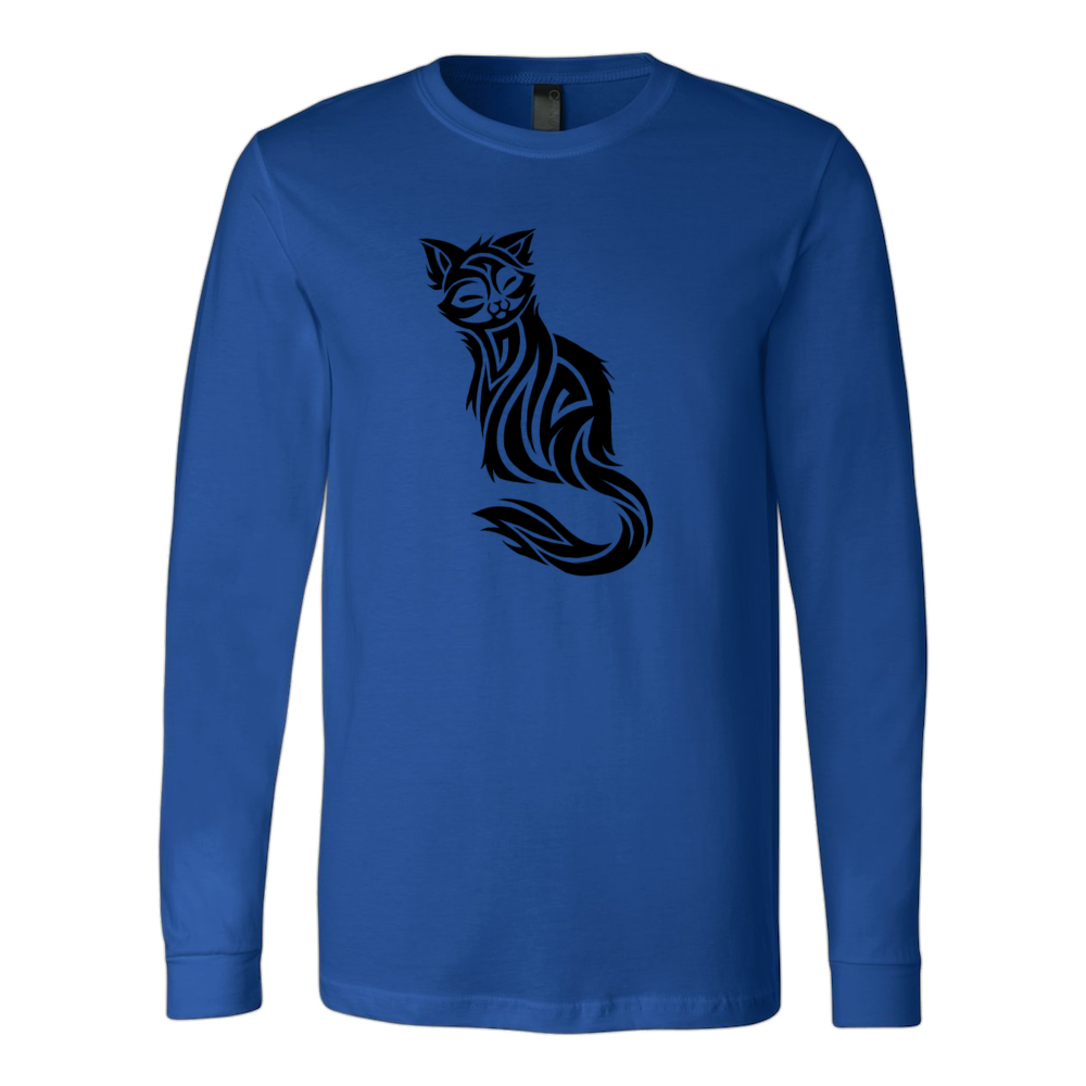 CAT TATTOO CANVAS LONG SLEEVE SHIRT