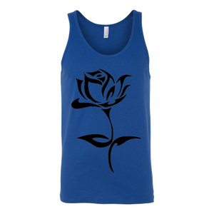 ROSE TATTOO CANVAS UNISEX TANK TOP