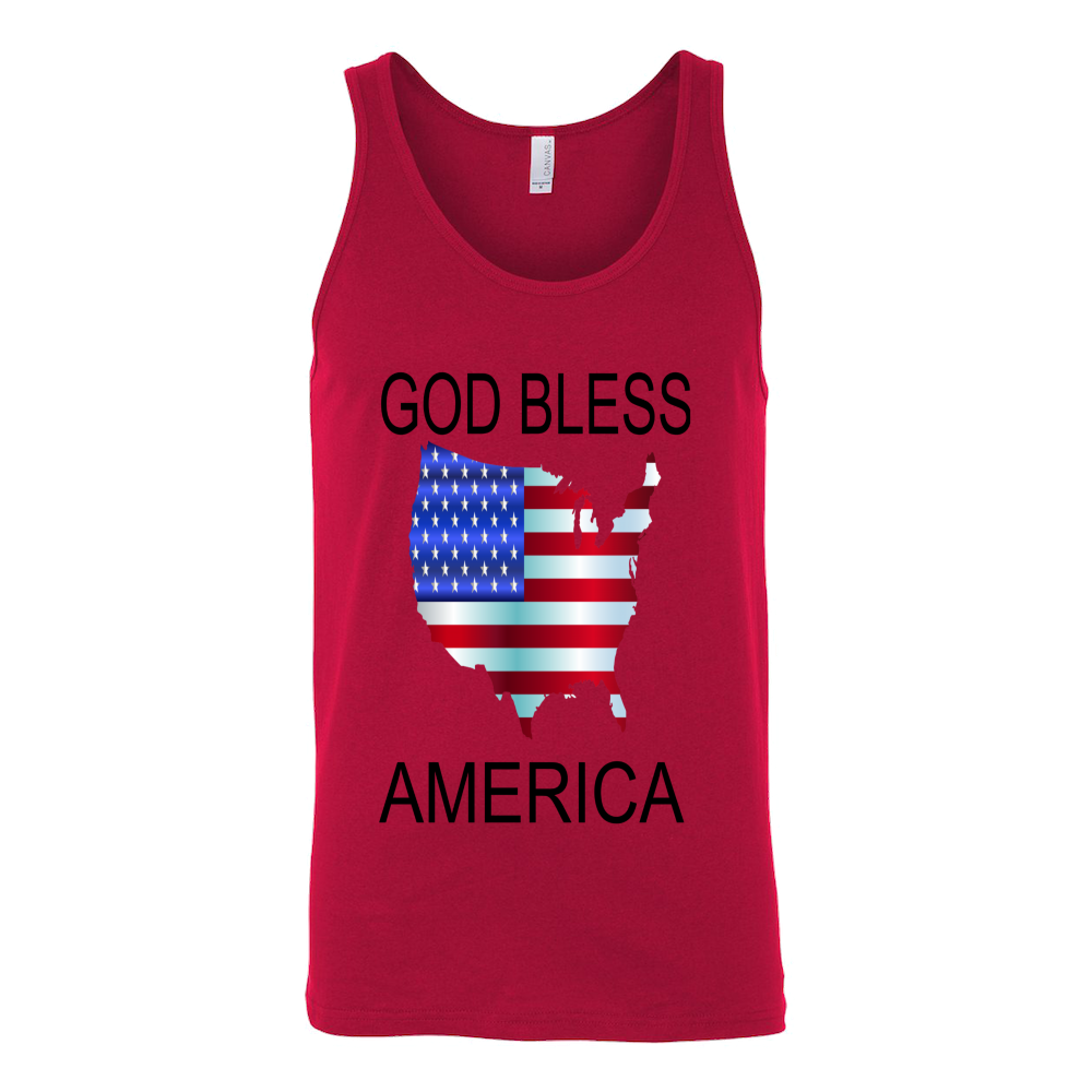 GOD BLESS AMERICA CANVAS UNISEX TANK TOP