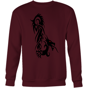 DRAGON RED EYE FANTASY CREWNECK SWEATSHIRT