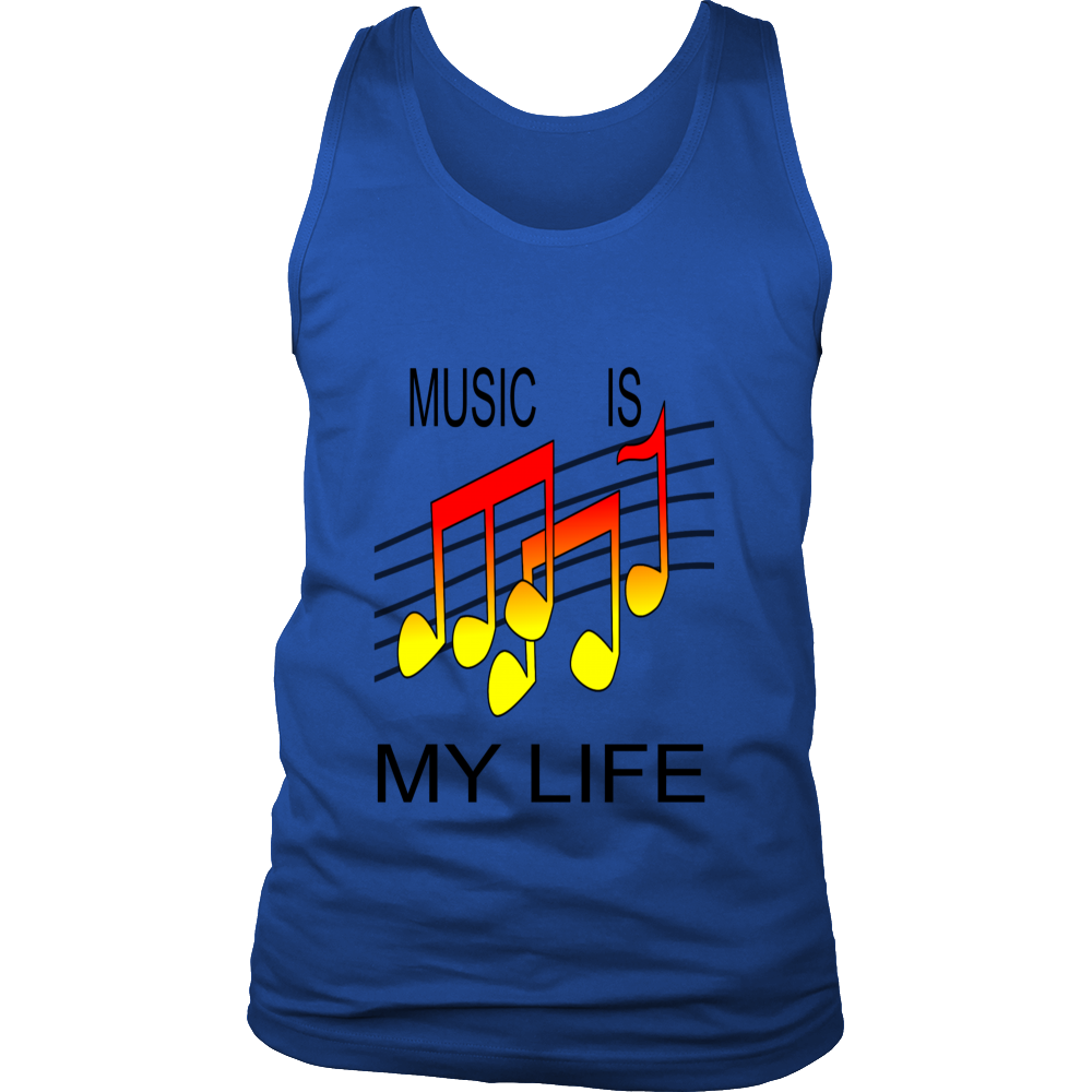 MUSIC IS MY LIFE DISTRICT MENS TANK TOP