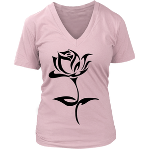 ROSE TATTOO DISTRICT WOMENS V NECK SHIRT