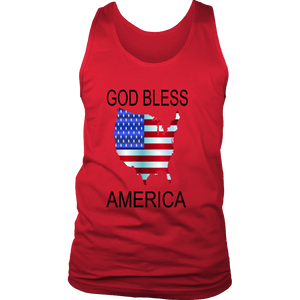 GOD BLESS AMERICA DISTRICT MENS TANK TOP