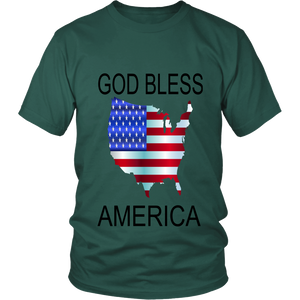 GOD BLESS AMERICA DISTRICT UNISEX SHIRT