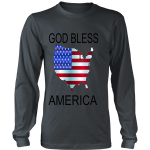 GOD BLESS AMERICA DISTRICT LONG SLEEVE SHIRT