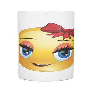 CUTE GIRL SMILEY 11 OUNCE MUG