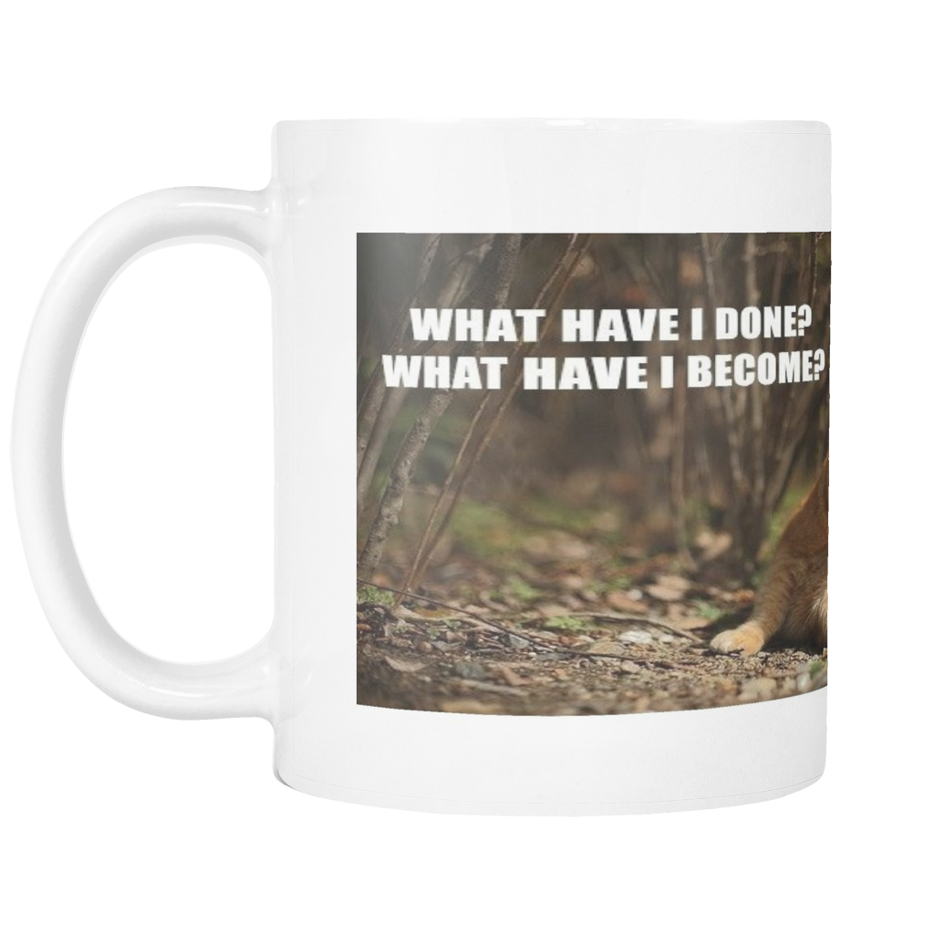 FAT CAT REGRETS MEME 11 OUNCE COFFEE MUG