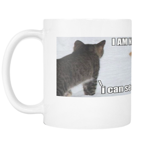 NINJA CAT MEME ON 11 OUNCE COFFEE MUG