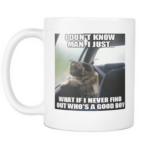 Cute funny dog meme 11 ounce double sided coffee mug