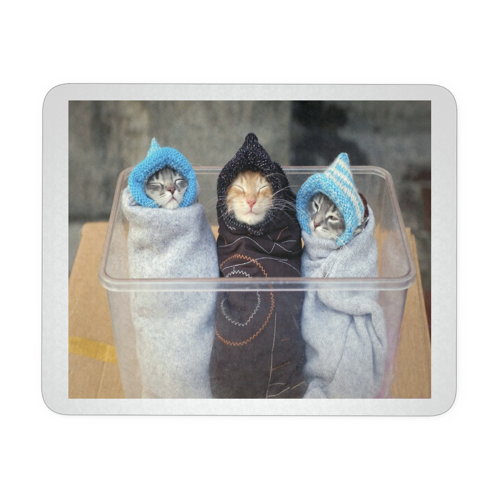 THREE KITTENS CUTE MOUSEPAD