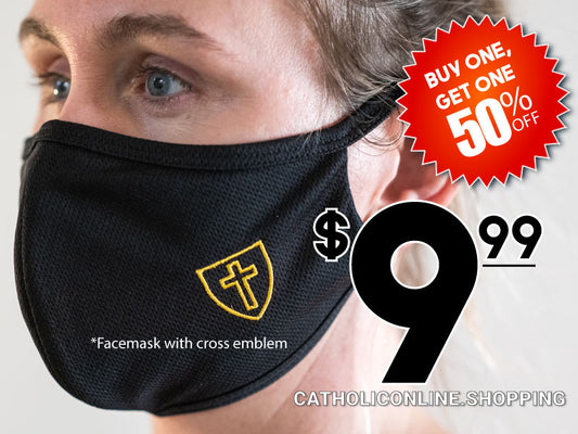 Face Mask with Cross BOGO 50% OFF