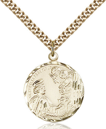 Image of St. Cecilia Pendant (Gold Filled)