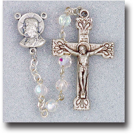 Crystal Bead Rosary - 5mm