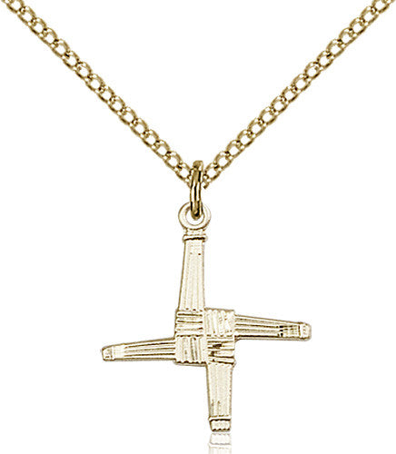Image of St. Brigid Cross Pendant (Gold Filled)