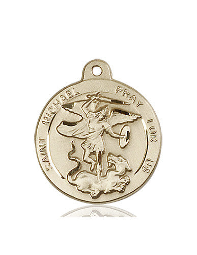 Image of St. Michael the Archangel Medal (14kt Gold)