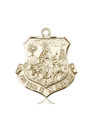 lord_is_my_shepherd_medal_14kt_gold