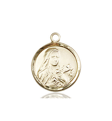 st_theresa_medal_14kt_gold