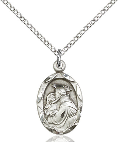 Image of St. Anthony of Padua Pendant (Sterling Silver)