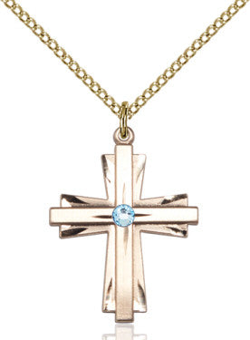 aqua_cross_pendant_14_karat_gold_filled