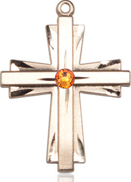 topaz_bead_cross_medal_14kt_gold