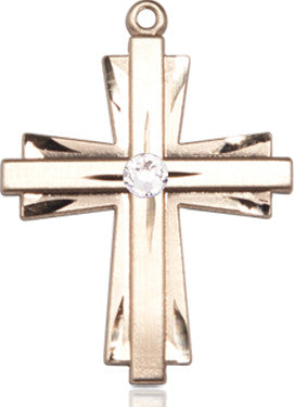 crystal_bead_cross_pendant_14kt_gold