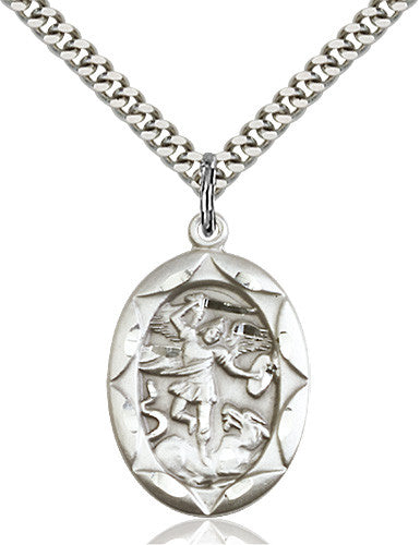 Image of St. Michael the Archangel Pendant (Sterling Silver)