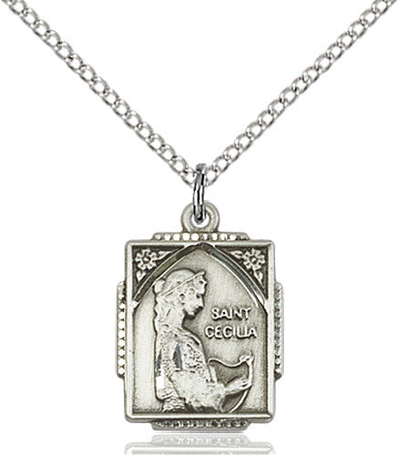 St cecilia st cecilia pendant sterling silver mozeypictures Choice Image