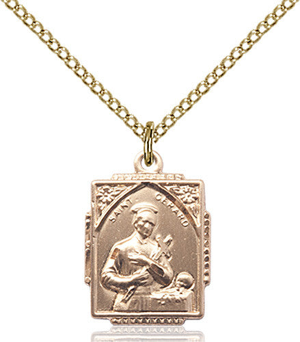 Image of St. Gerard Pendant (Gold Filled)