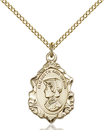 Image of St. Elizabeth Ann Seton Pendant (Gold Filled)