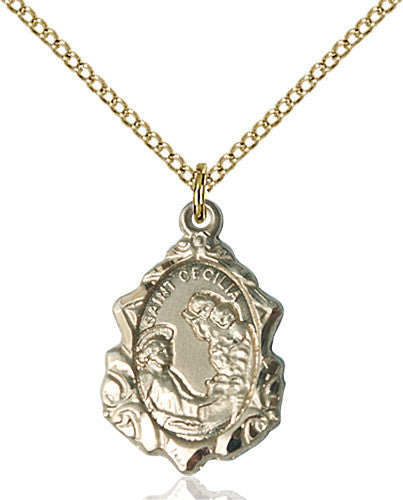 St cecilia free ship 49 catholic online shopping image of st cecilia pendant gold filled aloadofball Gallery