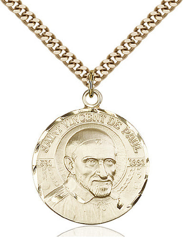 St. Vincent De Paul Pendant (14 Karat Gold Filled)
