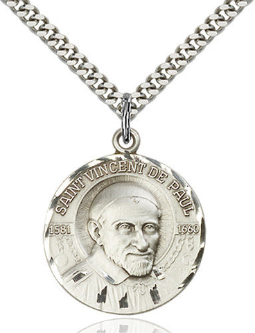 St. Vincent De Paul Pendant (Sterling Silver)